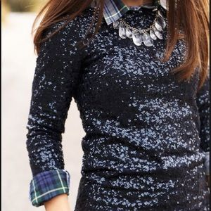 J. Crew black sequined shirt